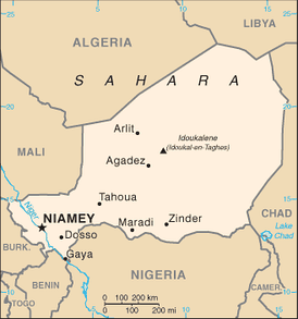 A map of Niger