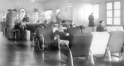MATS Terminal flight waiting area, Orly Air Base, 1955