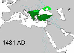 The territorial extent of the Ottoman Empire upon the death of Mehmed II.