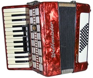 A Weltmeister piano accordion