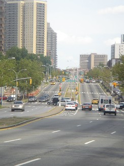 Queens Boulevard, looking eastward