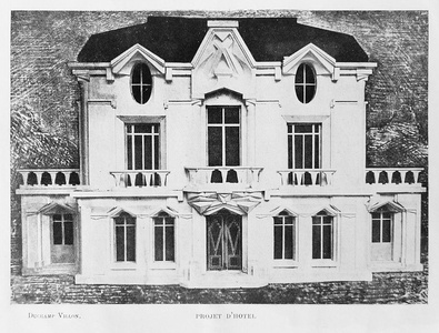 Design for the facade of La Maison Cubiste (Cubist House) by Raymond Duchamp-Villon (1912)