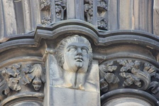 High relief portrait on the Scott Monument of Fergusson