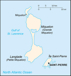 An enlargeable map of the French Territorial Collectivity of Saint Pierre and Miquelon