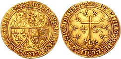Salut d'or, depicting Henry as King of England and France, struck in Rouen