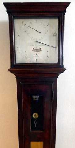 One of the two known surviving sidereal angle clocks in the world, made by John Arnold & Son. It was previously owned by Sir George Shuckburgh-Evelyn. It is on display in the Royal Observatory, Greenwich, London.