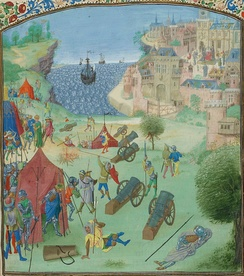 The 1384 Siege of Lisbon in Froissart's Chronicles.