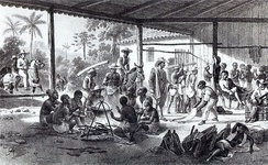 Recently bought slaves in Brazil on their way to the farms of the landowners who bought them c. 1830.