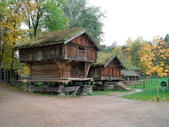 Historic buildings at Norsk Folkemuseum