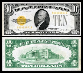 Series 1928 $10 Gold Certificate