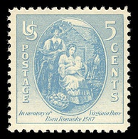 A stamp honoring Virginia Dare, who in 1587 became the first English child born in what became the U.S.