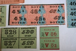 Ration stamps from the German-occupied Netherlands