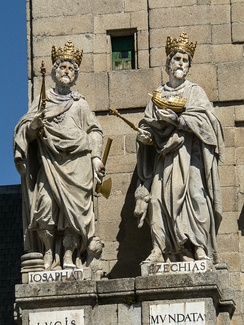 Statues of Kings Jehoshaphat and Hezekiah at El Escorial, Spain