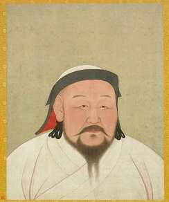 Kublai Khan, Genghis Khan's grandson and founder of the Yuan dynasty.