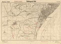 """Stalingrad-South"", 1942 map from the German General Staff"