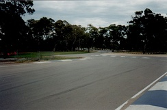"The ""Senna Chicane"" at the Adelaide Street Circuit, South Australia"