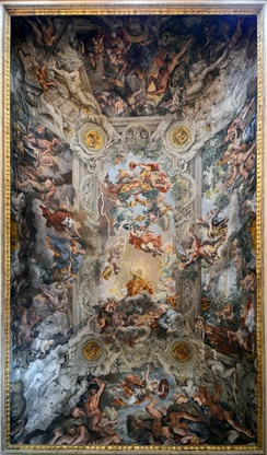 The famous ceiling by Pietro Cortona, Allegory of Divine Providence and Barberini Power, 1639
