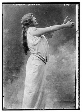 Bernhardt as Zoraya in La Sorcière by Sardou (1903)