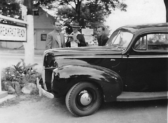 During the 1940 Border Patrol expansion, four newly hired agents from the northeastern states drove this new pursuit vehicle from the Ford factory in Detroit to El Paso where they would receive training.