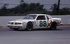 Baker driving at Pocono Raceway in 1985