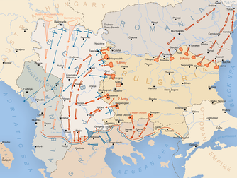 Bulgarian military operations during World War I.