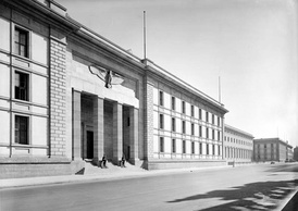 The New Reich Chancellery in Berlin, Germany.