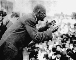 Eugene V. Debs speaking in Canton, Ohio in 1918
