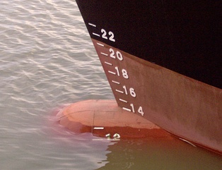 Load lines, by showing how low a ship is sitting in the water, make it possible to determine displacement.