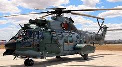 A Cougar EC725 of the Brazilian Air Force, a similar model to the one in the attack