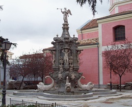 Fuente de la Fama, built in 1732 by Pedro de Rivera