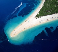 The Zlatni Rat (Golden Cape) on the island of Brač