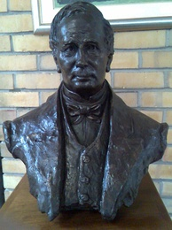 Bust of John Fairbairn, politician, educator and one of the principal architects of the Cape's first, non-racial constitution