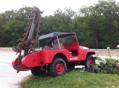 "CJ-5 with the ""Jeep-A-Trench"" accessory"