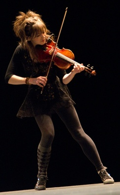 Lindsey Stirling performing at TEDx Berkeley, 2012.