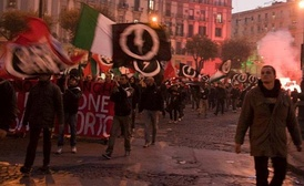 CasaPound rally in Naples