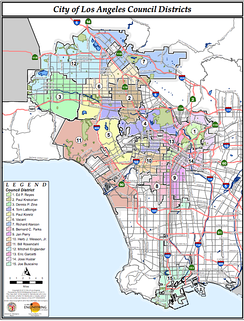 Map of the districts in the LA City Council. Venice is in District 11.