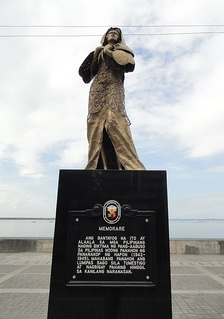 Comfort women statue and marker along Roxas Boulevard. It was removed on April 27, 2018.