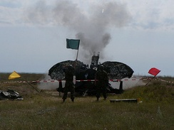 Romanian soldiers firing TP rounds.