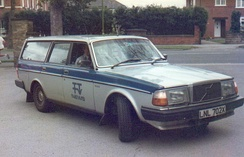 A car with the Tyne Tees logo emblazoned on the door.