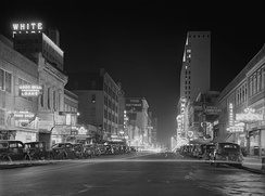 Elm Street at night, January 1942