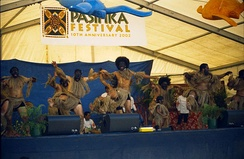 Niuean dancers at the Pasifika Festival