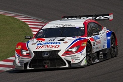 Jarvis competing in the 2014 Super GT season.