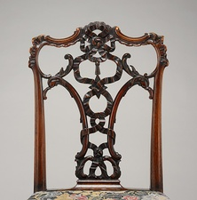 Side chair; Thomas Chippendale; circa 1755–1760; mahogany; Metropolitan Museum of Art (New York City)