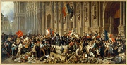 French Revolution of 1848: Republican riots forced King Louis-Philippe to abdicate