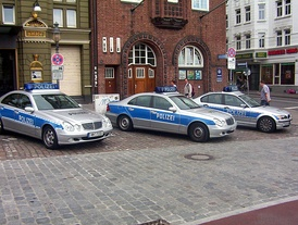 Police cars in Hamburg (2006).
