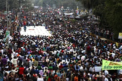 2013 Shahbag protests demanding the death penalty for the war criminals of the 1971 war