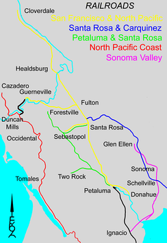 Historical railroads of Sonoma County