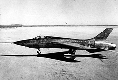 Republic YF-105A, AF Ser. No. 54-0098, the first of two prototypes
