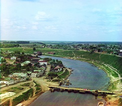 Rzhev is the uppermost town situated on the Volga (photographed c. 1910)