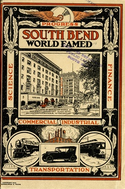 This 1922 pamphlet demonstrates the visions of progress and global importance nurtured by the early period of industrialization in South Bend.